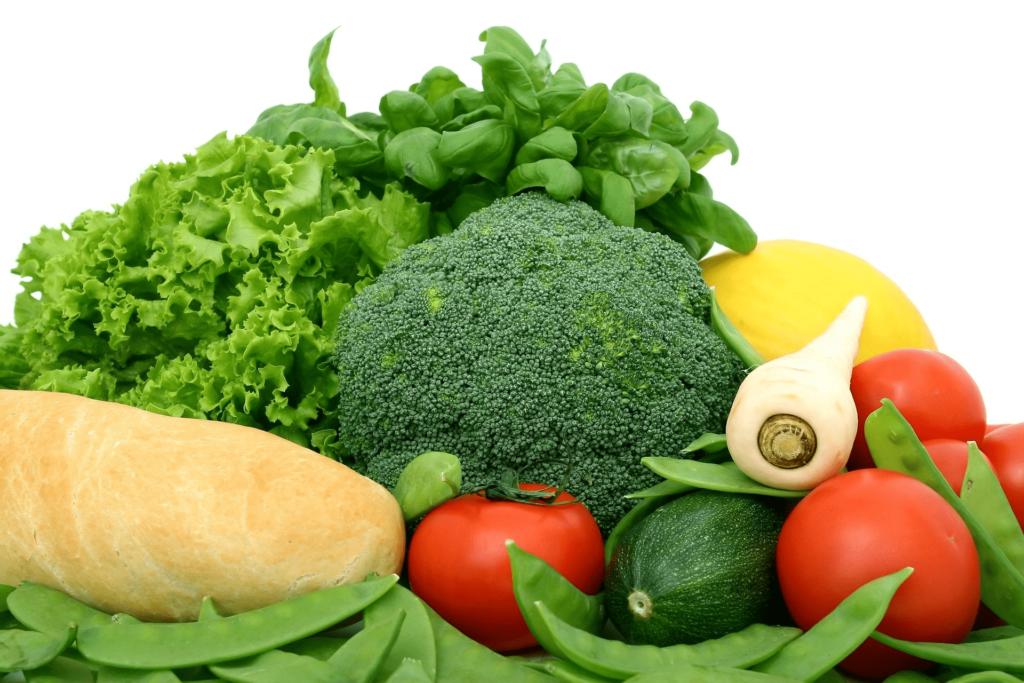utilización de más verduras