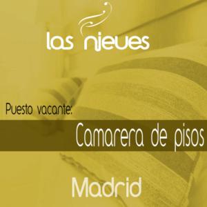 búsqueda de camarera de pisos en Madrid para Las Nieves